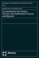 A Constitution for Europe
