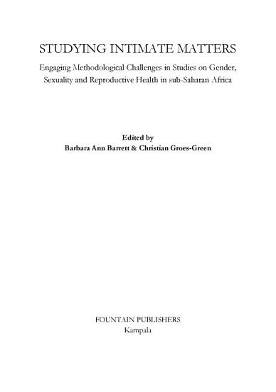 Studying Intimate Matters PDF