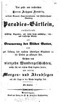 Paradies G  rtlein PDF
