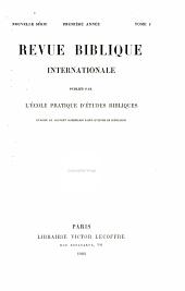 Revue Biblique: Volume13