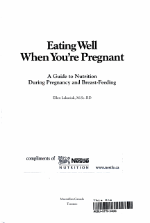 Eating Well when You re Pregnant   a Guide to Nutrition During Pregnancy and Breast feeding Book