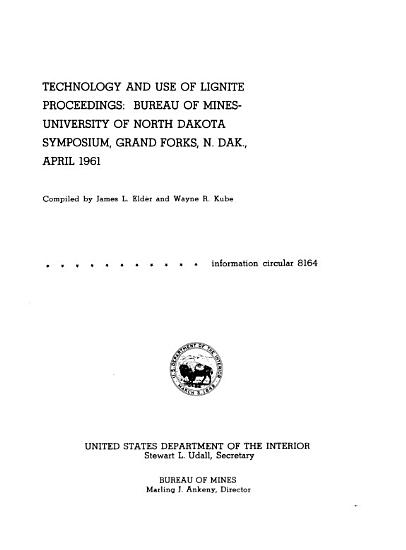 Technology and Use of Lignite PDF
