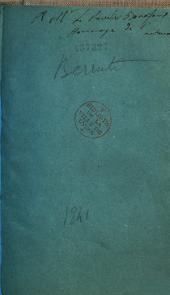Note del Professore Berruti all'opera del celebre Müller intitolata Physiologie du système nerveux