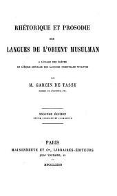 Rhétorique et prosodie des langues de l'Orient musulman