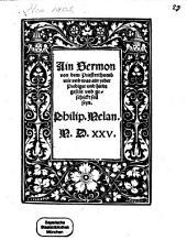 Ain Sermon von dem Priesterthumb