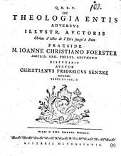 De theologia entis adversus illustr. auctoris Chaine d'idées de l'être jusqu'à Dieu