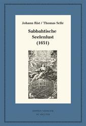 Sabbahtische Seelenlust (1651): Kritische Ausgabe und Kommentar. Kritische Edition des Notentextes