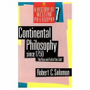 Continental Philosophy Since 1750 PDF