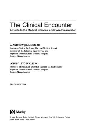The Clinical Encounter PDF