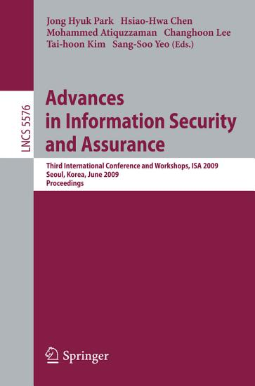 Advances in Information Security and Assurance PDF