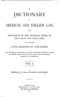 A Dictionary of American and English Law PDF