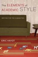 The Elements of Academic Style PDF