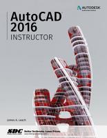 AutoCAD 2016 Instructor PDF