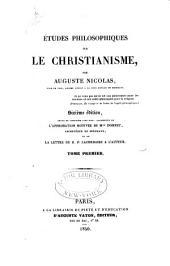 Études philosophiques sur le christianisme: Volume1
