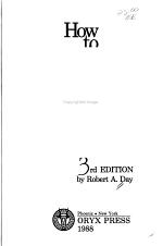 How to Write & Publish a Scientific Paper
