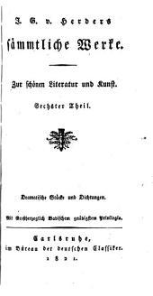 J.G. v. Herder's sämmtliche Werke: Zur Philosophie und Geschichte, Bände 22-23