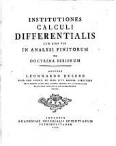 Institutiones Calculi differentialis