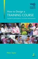 How to Design a Training Course PDF