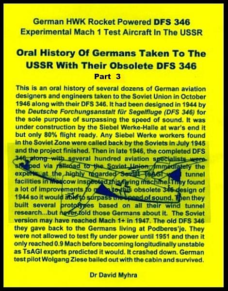 Oral History Of Germans Taken To The Ussr With Their Obsolete Dfs Part