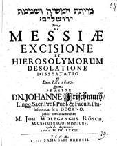 De Messiae excisione et Hierosolymorum desolatione, dissertatio