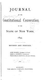 Journal of the Constitutional Convention of the State of New York. 1894