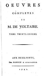 Oeuvres complètes de M. de Voltaire: Volume31