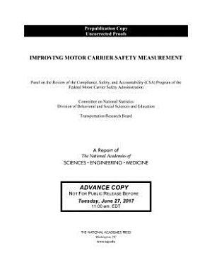 Improving Motor Carrier Safety Measurement