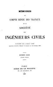 Mémoires et compte-rendu des travaux: Volume1