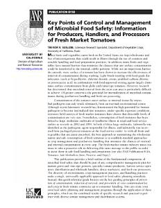 Key Points of Control and Management of Microbial Food Safety  Information for P PDF