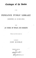 Catalogue of the Books in the Penzance Public Library     PDF