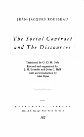 The Social Contract   And  The Discourses PDF