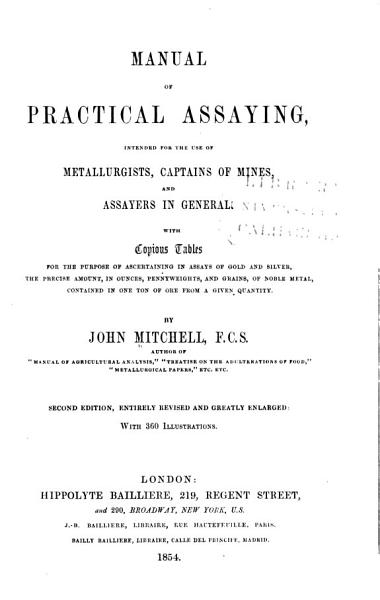 Download Manual of Practical Assaying Book