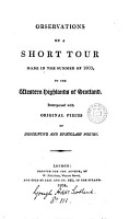 Observations on a short tour made in the summer of 1803 to the western highlands of Scotland  by P B  Homer   PDF