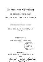 An East end chronicle  St  George s in the East parish and parish church PDF