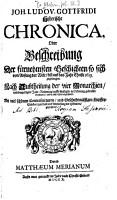 Historische Chronica  Oder Beschreibung Der f  rnehmsten Geschichte  so sich von Anfang der Welt  bi   auf das Jahr Christi 1619 zugetragen0 PDF
