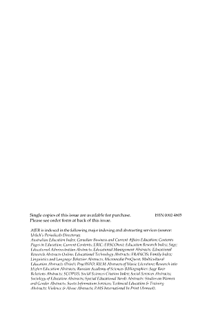 Alberta Journal of Educational Research PDF