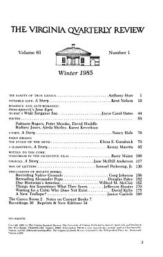 The Virginia Quarterly Review PDF