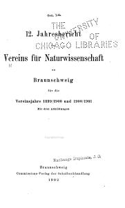 Jahresbericht des Vereins f  r Naturwissenschaft zu Braunschweig     PDF