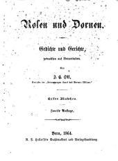 Rosen und Dornen: Gedichte und Gerichte, gewachsen auf Bernerboden, Band 1