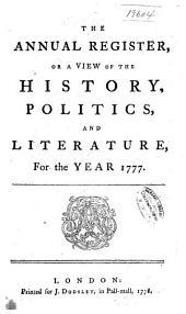 Annual Register: Volume 21