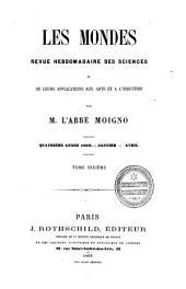 Les Mondes: revue hebdomadaire des sciences et leurs applications aux arts et à l'industrie, Volume10