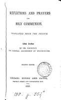 Reflections and prayers for holy communion  Tr  from the Fr PDF