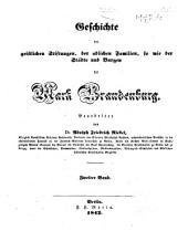 Codex diplomaticus brandenburgensis: Sammlung der urkunden, chroniken und sonstigen quellenschriften für die geschichte der mark Brandenburg und ihrer regenten, Band 2