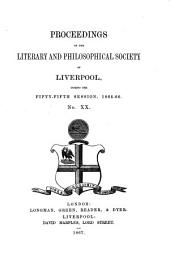 Proceedings of the Liverpool Literary and Philosophical Society: Volume 20