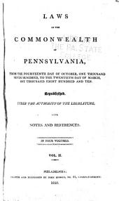 Laws of the Commonwealth of Pennsylvania: May 24, 1781-Sept. 3, 1790