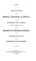 Minutes of the General Association of Illinois  at the Annual Meeting in     PDF