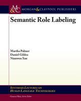 Semantic Role Labeling PDF