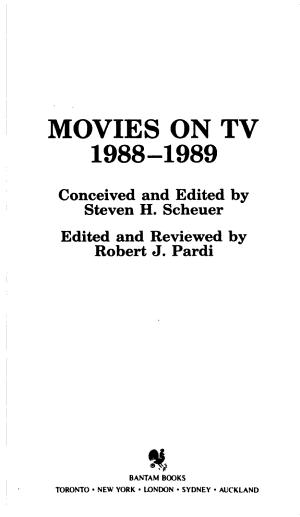 Movies On Tv 1988 1989
