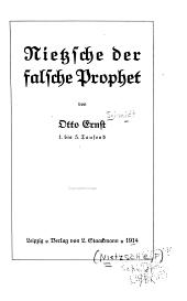 Nietzsche der falsche prophet