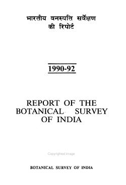 Bh  rat  ya Vanaspati Sarvekshana K   Riporta PDF